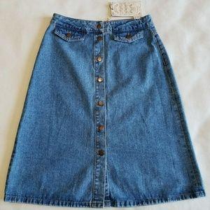 Zara Basic Z1975 Heritage Denim Skirt